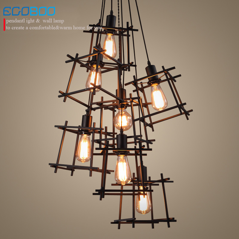 American Loft Vintage pendant light Personality Wrought Iron lights Nordic lamp industrial cage lamp lighting fixtures 100-240V american loft vintage pendant light wrought iron retro hanging lamp edison nordic restaurant light industrial lighting fixtures