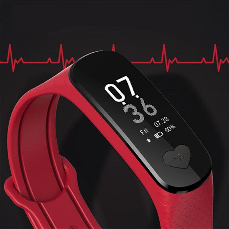 Faixa de Freqüência Cardíaca de Pulso Monitor de Pressão Arterial de Saúde Rastreador de Fitness para os Homens Ecg + Ppg Pulseira Inteligente Esporte Pedômetro Mulheres b9