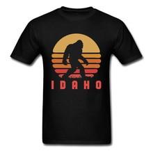 Bigfoot Idaho State Sasquatch Game T Shirt Hawaii Sunset Vintage Tshirts For Men Fashion Print New Fitness Cotton Tops Tee airhole маска airhole standard sasquatch