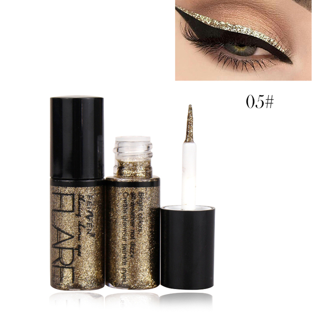 Professional New Shiny Eye Liners Cosmetics for Women Pigment Silver Rose Gold Color Liquid Glitter Eyeliner Cheap Makeup 3