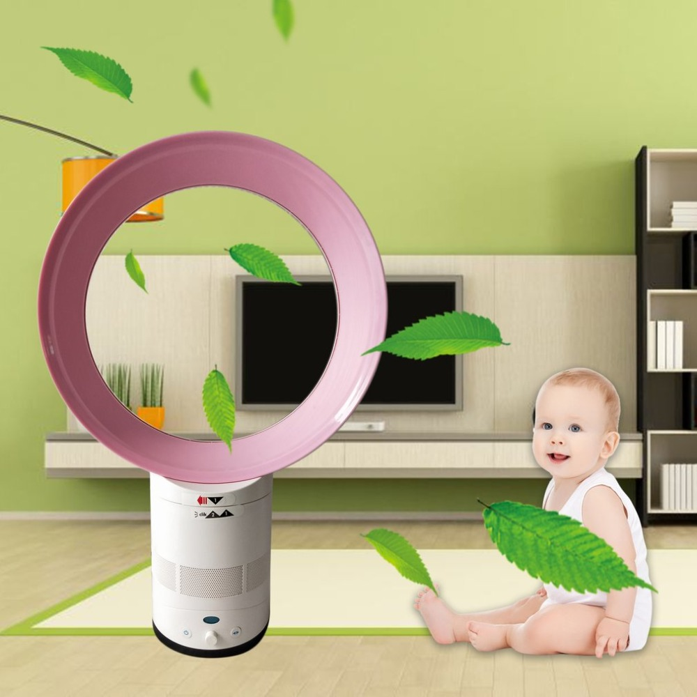 купить Newest 12-Inch Mini Portable Bladeless Desk Fan Children Safe Home Air Conditioner Summer AirFlow Cooling Fan For Home Office по цене 4283.16 рублей