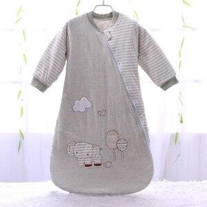 Image 1 - Sac de couchage bébé manches complètes nouveau né sac de sommeil 72*40cm bébé dormeur 0 12 mois
