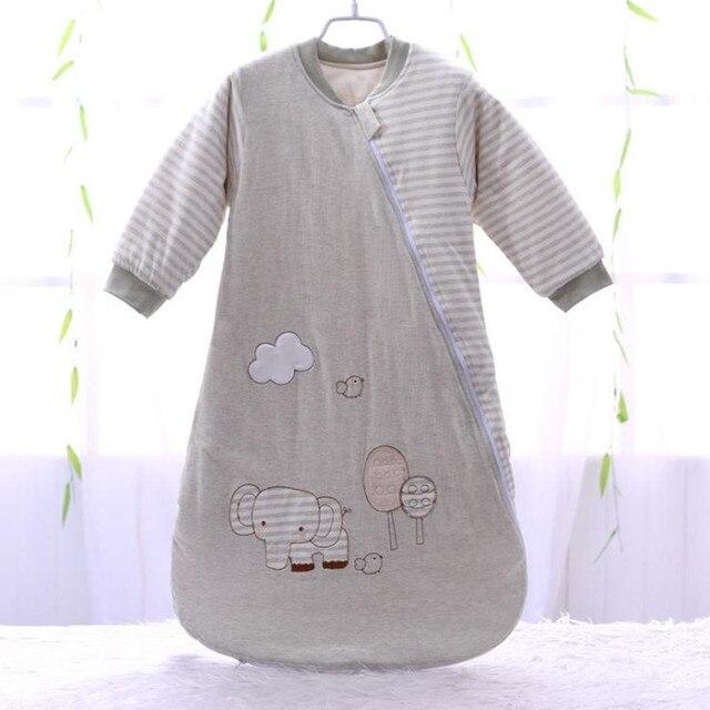 Sac de couchage bébé manches complètes nouveau né sac de sommeil 72*40cm bébé dormeur 0 12 mois