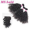 7A New Arrival Ms Lula hair 3 bundles with 1pc Roman Curl lace closure deal with free shipping Best Quality Virgin Human hair
