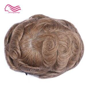 Image 4 - Tsingtaowigs, uomini toupee super sottile skin0.02 0.04mm Vlooped NG, capelli replacemnt, parti dei capelli, uomini parrucca di trasporto libero