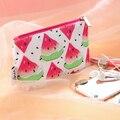 1 Set.Cute Cartoon Watermelon Make up Bags.Portable Toiletry Cosmetic Bag.Beauty Case.Day Clutch.Zipper Travel Wash Storage Bag.