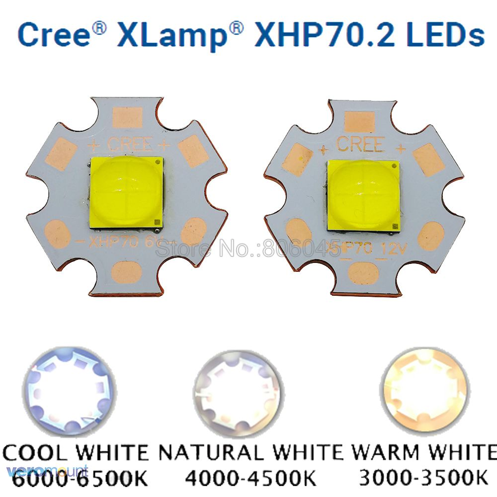 Cree XHP70.2 GEN2 High Power LED Emitter Cool White Neutral White Warm White Colors With 20mm 16mm Full Copper MCPCB