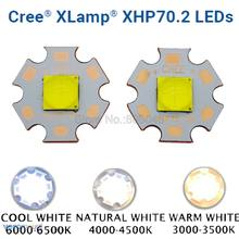 Cree xhp70.2 gen2 alta potência led emissor de luz branco fresco neutro branco quente branco cores brancas com 20mm 16mm cobre completo mcpcb