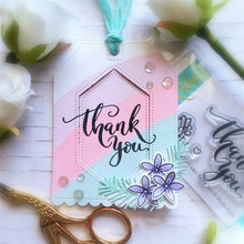 InLoveArts Letters Thank You Metal Cutting Dies with Stmaps for DIY Scrapbooking Paper Cards Decorative Crafts New 2019 Die