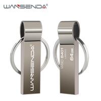 Doble Uso USB Flash Drive 32GB 64GB de Metal Pen Drive de acero inoxidable lápiz de memoria USB 8GB 16GB 4GB USB 2,0 Pendrive con anillo