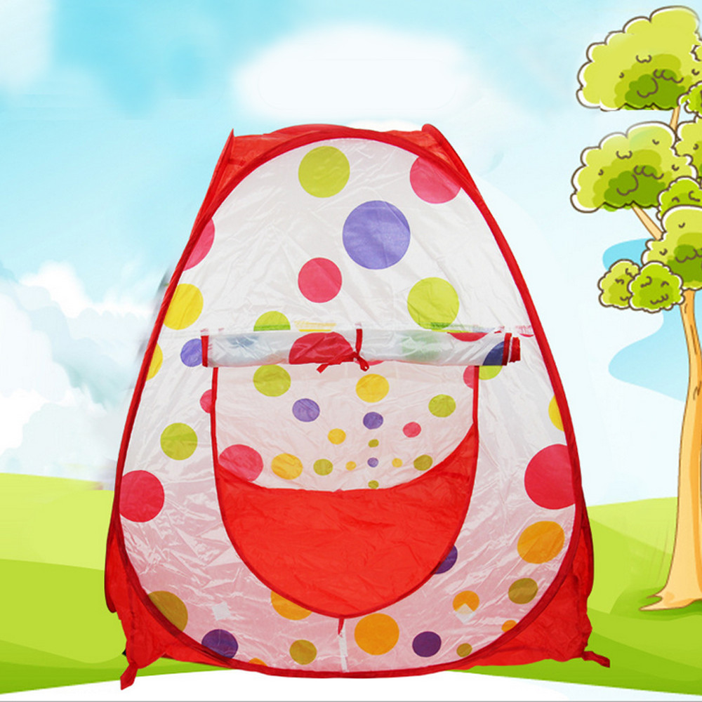 Best Quality Kids Game House Indoor & Outdoor Baby Ultralarge Ventilation With Tunnel Ocean Ball Pit Pool Tent For Child
