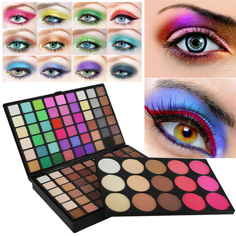 2020 Baru Eye Shadow Pallet 123 Warna Kosmetik Matte Eyeshadow Bubuk Eye Shadow Makeup Bercahaya Glitter Shimmer Palet Set