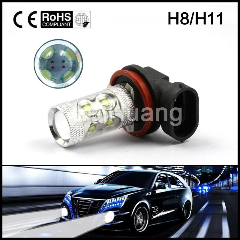 H11 H8 LED    12V-24V 60W High Power Auto LED Fog Lamp Light DRL Daytime Running Light Bulb qvvcev 2pcs new car led fog lamps 60w 9005 hb3 auto foglight drl headlight daytime running light lamp bulb pure white dc12v