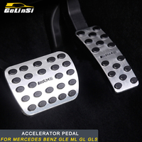 Gelinsi For Mercedes Benz GLE ML GL GLS Accelerator Pedal Cover Trim Sticker Accessories Auto
