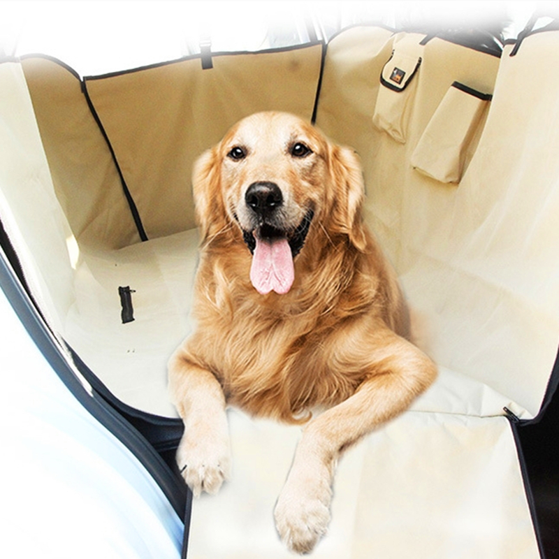 Dog Carriers Waterproof Rear Back Pets Dogs Car Seat Cover Mats Hammock Protector With Safety Belt
