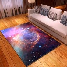 Polyester Universe Pattern Carpet for Living Room Kitchen Mat Bedroom Floor Door Decoration