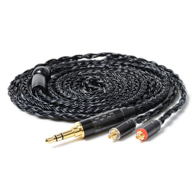 NICEHCK 16 жильный посеребренный кабель 3,5/2,5/4,4 мм штекер MMCX/2 контактный кабель для TFZ KZAS10/ZS10 CCAC16/C10 NICEHCK NX7/M6/EBX/F3
