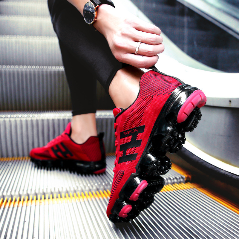 Spring New Blade Warrior Men Wear Outside Increase Shock Absorbed Running Shoes Breathable Sports Shoes