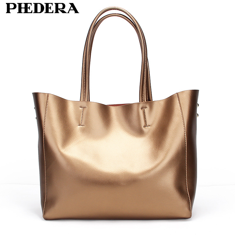 Fashion Designer Genuine Leather Shoulder Bag Women Large Real Leather Female Handbags Famous Brand Litchi Pattern Ladies Bags 2017 new arrival designer women leather handbags vintage saddle bag real genuine leather bag for women brand tote bag with rivet