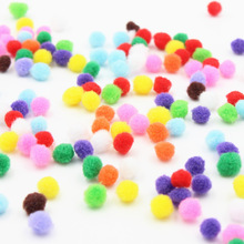500PCS Christmas hat decoration wool ball Childrens educational toys Manual materials Multicolor DIY Ball Ornaments