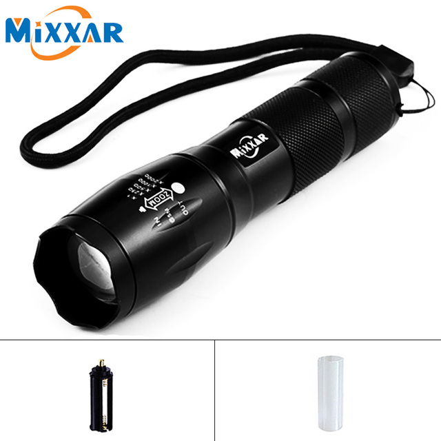 ZK59 Portable LED Flashlight LED Torch Zoomable Flashlight 8000LM E17 CREE XM-L T6 LED 5 Mode Light For 18650 or 3xAAA Battery