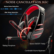 Gaming Headset Stereo Deep Bass Earphone casque with Mic LED Lights For Phones Computer PS4 PC Xbox Gamer Headphones casque microphone gamer headset good bass headphones led luminous gaming big earphone headset for pc gamer player