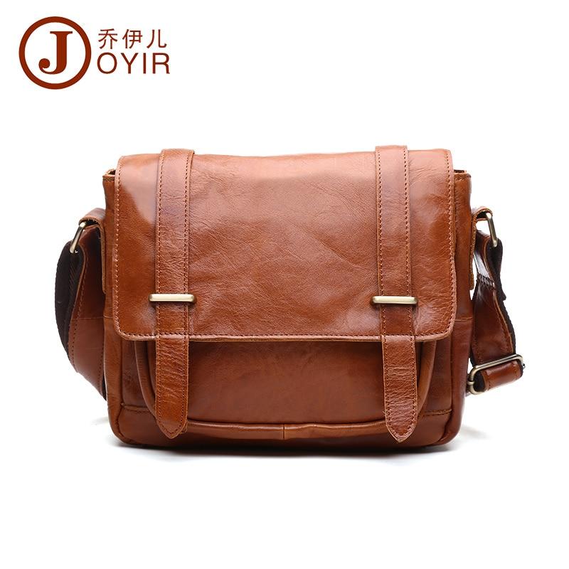 ФОТО 2017 New Arrival men's crazy horse leather bag vintage messenger shoulder bag for male crossbody bag men bag casual #B350