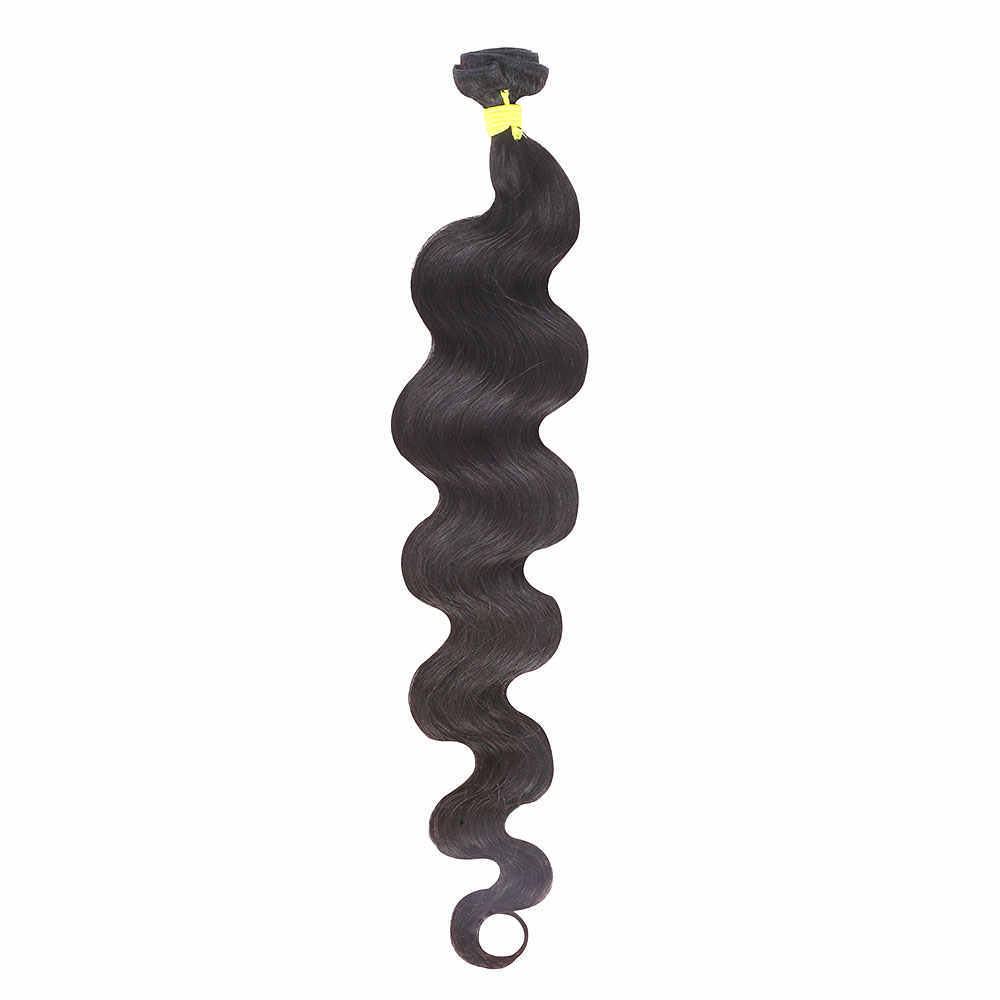 Новизна волос сырья и индийские волосы девственницы 32 34 36 38 40 дюймов Волне Тела Пучки Волос цельнокроеное платье натуральный Цвет натуральные волосы расширение