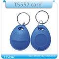 100 PCS Re_Writable 125 Khz de Proximidade RFID Tag 125 Khz T5557 RFID Cartão Keyfobs Para O Hotel/Porta de controle de Acesso sistema