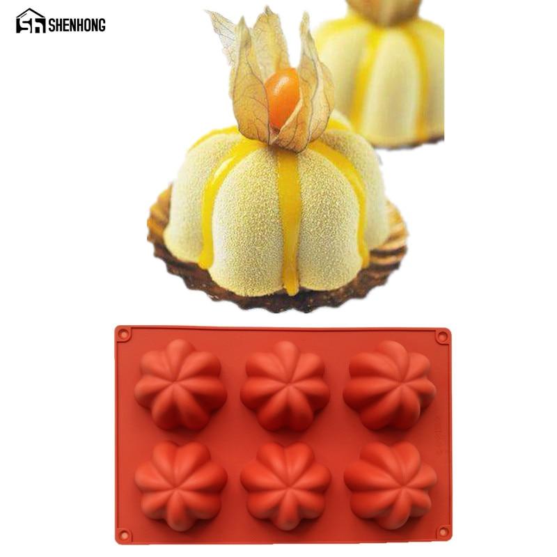 Shenhong 6 Locher Blumen 3d Kuchenform Silikon Schokoladenform