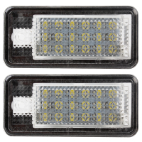 18 LED 5W For Audi Car Styling Light Source Number Plate Light 6500K A Pair #HP