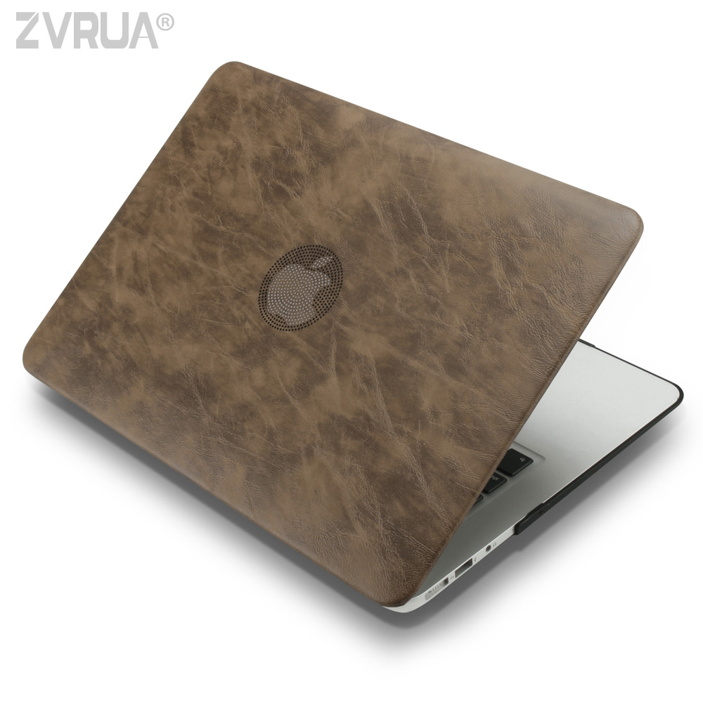 Zvrua business pu leather laptop cases for macbook