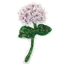 Hydrangea Flower Patch 3D Flowers Applique Beaded Patches For Clothing Bags Dress Appliques Parches Sew On 28x16cm AC1158