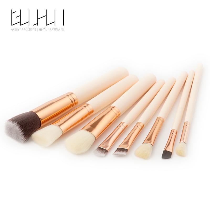 8 Makeup Brush Sets, Beauty Tools, Skin Powder, Brush Eyebrow Brush, Make-up GUJHUI 6 makeup brush sets beauty tools eye shadow brush sets brush make up equipment foundation brush gujhui