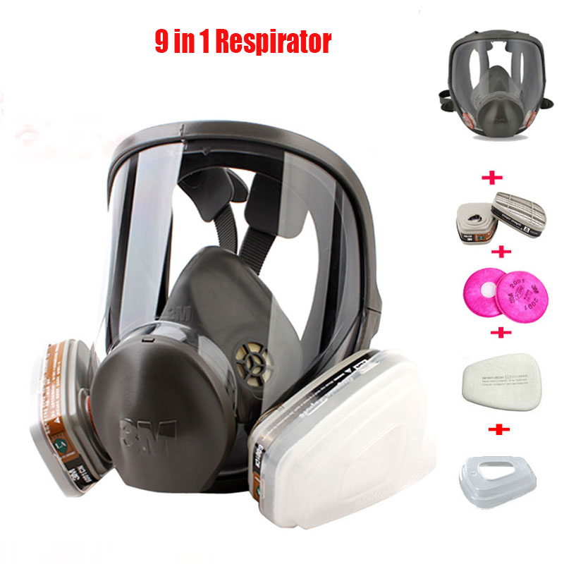 Original 3M 6800 Painting Spraying Respirator Gas Mask Industry Chemcial Full Face Gas Mask Facepiece Safety Respirator Medium sjl painting spraying respirator gas mask same for 3 m 6800 gas mask full face facepiece laboratories dust mask respirator