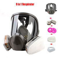 Original 3M 6800 Painting Spraying Respirator Gas Mask Industry Chemcial Full Face Gas Mask Facepiece Safety Respirator Medium|respirator gas mask|6800 3m|mask spray -