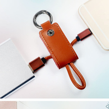 Key leather buckle data cable Micro USB Date Cable portable Fast Data Charging Charger Wire For iPh for Android
