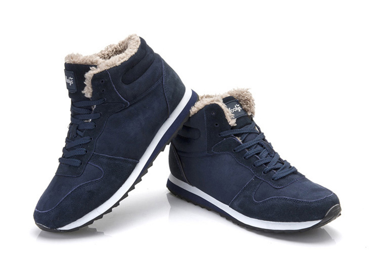 Men Shoes Plus Size 35-48 Warm Ankle Boots