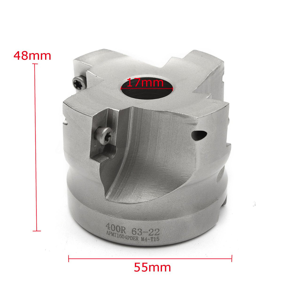 55mm RAP 400R-63-22-4F Lathe Face Milling Cutter With Wrench For APMT1604 Inserts Milling Machine precision m16 bt40 400r 63 22 face endmill and 10pcs apmt1604 carbide insert new