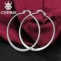 CYPRIS E043 серебряные серьги популярный шикарный Плоские Круглые Серьги pendientes/brincos CYPRIS оптовая цена завода магазин Мило 925