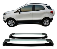 For Ford Ecosport 2012 2016 Roof Rack Rails Bar Luggage Carrier Bars top Cross Racks Rail Boxes Aluminum alloy 2PCS