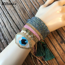 Rttooas Evil Eye Womens Bracelet Fashion Jewelry Accessories MIYUKI Beads for Girls Handmade