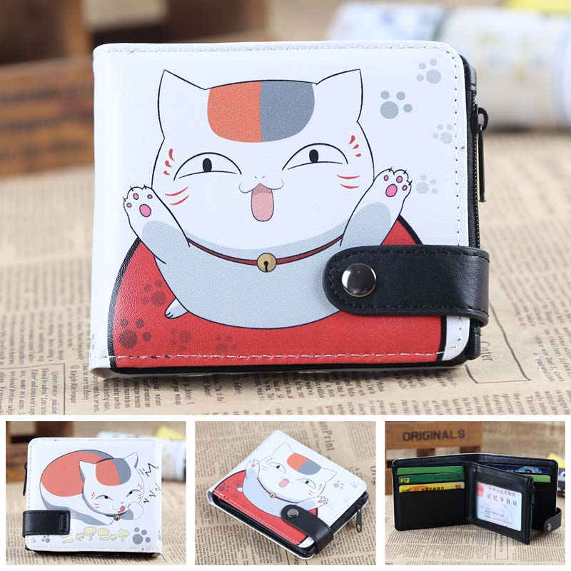 Anime Natsume Yuujinchou Nyanko Sensei PU Short Zero Wallet/Coin Purse/Multilayer Double-button Wallet звездочка для мотоциклов new honda hornet 250 cbr250 mc19 22 428