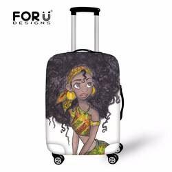 FORUDESIGNS чехол афро/черный книги по искусству печати дорожные аксессуары для чемодана протектор Чехлы для мангала мода путешествия чемодан