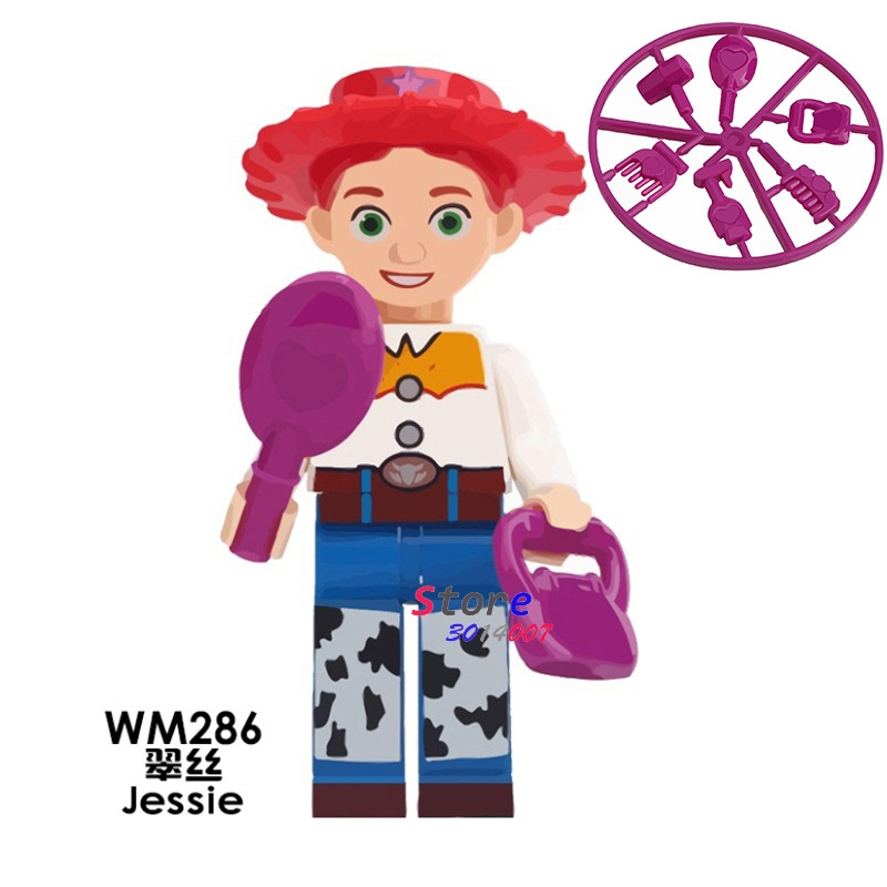50pcs Toy Story Jessie Children Happy Source Woody s Roundup Virtual Series Deadpool building block for