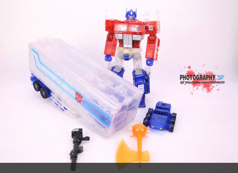 CK Clear Color MP-10 Optimus Prime+Clear Trailer,In stock!