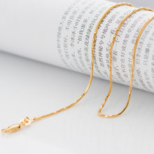 Thin gold chain 18inch 1mm yellow Gold Color GP filled men Women link Chains Necklace Lead Nickel(China)