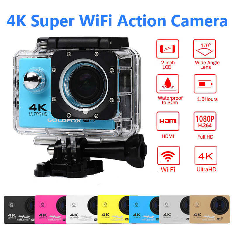 Ultra-HD 4K Action Camera F60 F60R Wifi Outdoor Sports Camera 30M Underwater Camera Go Waterproof Pro Diving Bike Helmet Cam