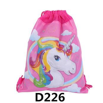 Fashion Drawstring Bag 3D Printing Unicorn Drawstring Backpack Women daily Casual Girl's knapsack Drawstring Bags Kids фото
