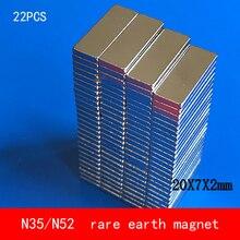 22PCS 20*7*2mm NdFeB magnet N35 N52 permanent magnets 20X7X2MM mc100el91dwg soic 20 7 2mm mc100el91